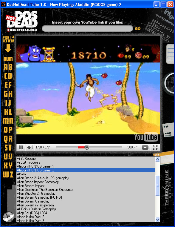 Click to view DosNotDead Tube 1.0 screenshot
